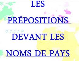 Cách sử dụng giới từ và tên nước trong tiếng Pháp - Học tiếng Pháp online miễn phí
